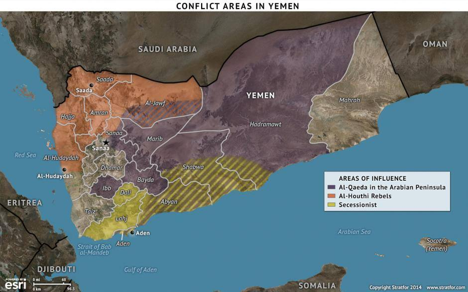 Mapa Yemen Stratford