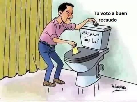 Caricatura del diario Saut al Shaab
